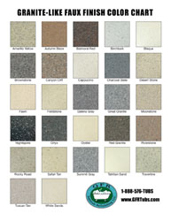 Click To View Our Granite Like Faux Finish Chart